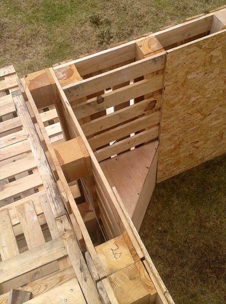 installation of inside bottom corner supports