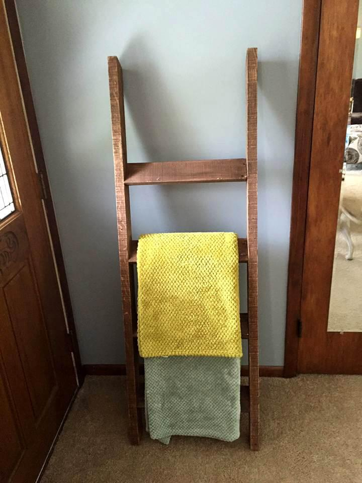 handcrafted pallet towel rack