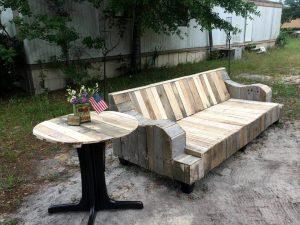 Refurbished Old Couch Base into Pallet Sofa