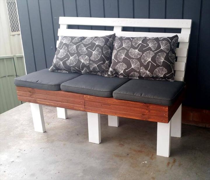 pallet choco white seat with cushion