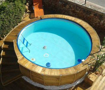 handmade wooden pallet outdoor pool