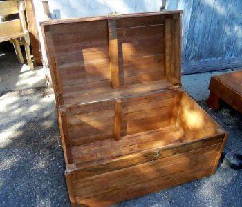 hand-built pallet chest
