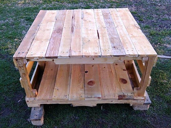 diy wooden pallet lasting coffee table