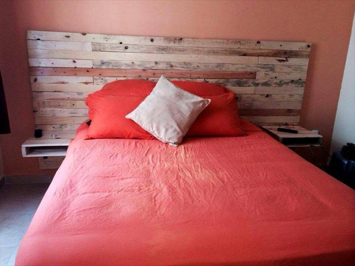 rustic headboard made of pallets