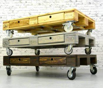 wooden pallet colorful coffee tables