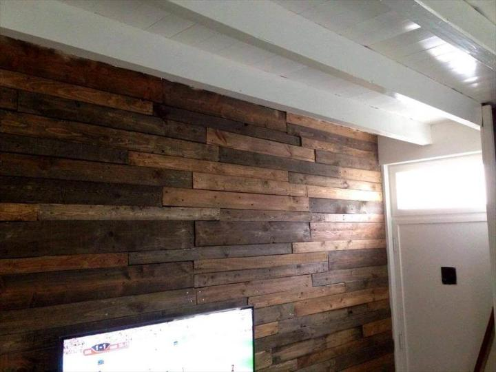 self-installed wooden wall