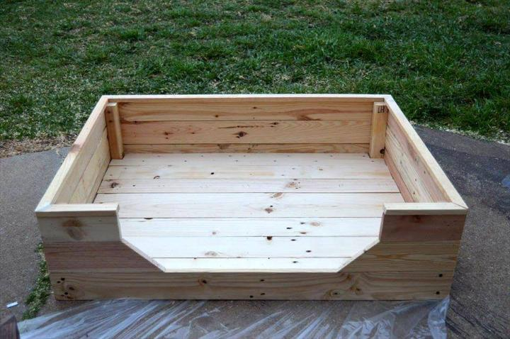 Handmade pallet dog bed