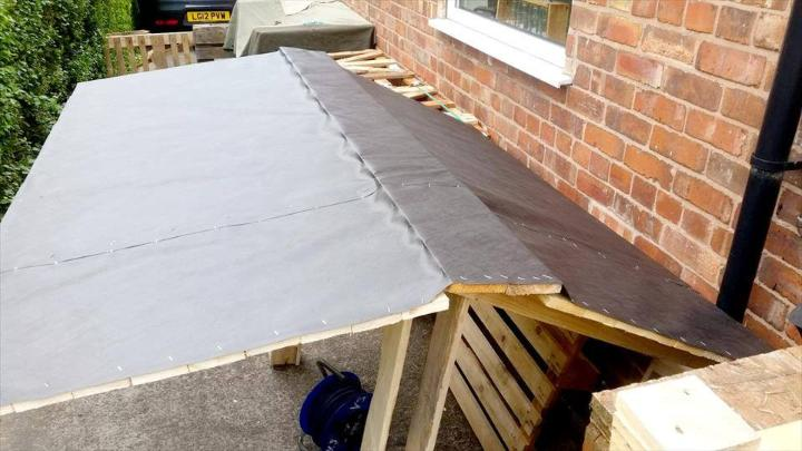 making the bar shelter waterproof