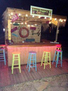 handcrafted wooden pallet bar shop