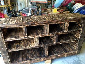 DIY Pallet Storage Unit / Media Console