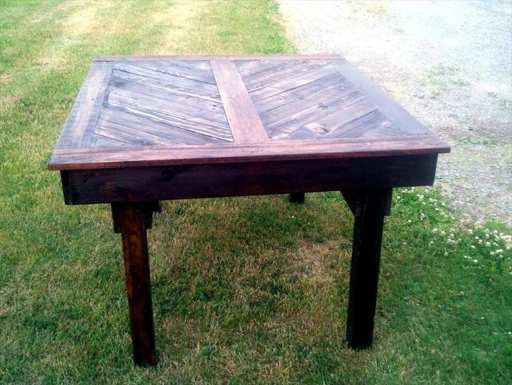 no-cost beefy pallet dining table