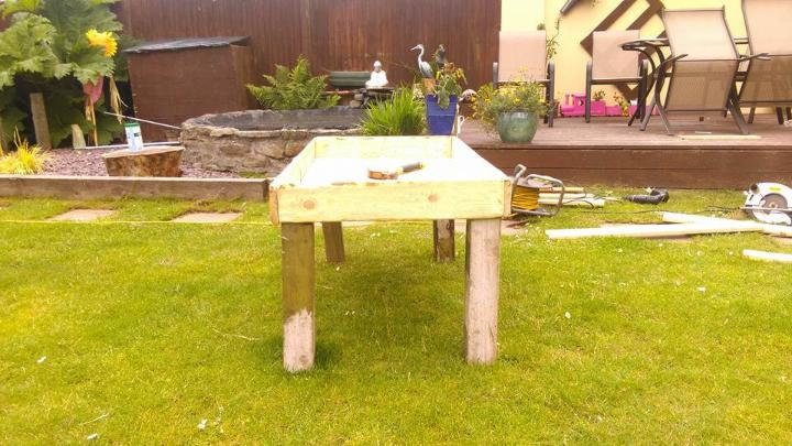 recycled pallet sandbox for kids
