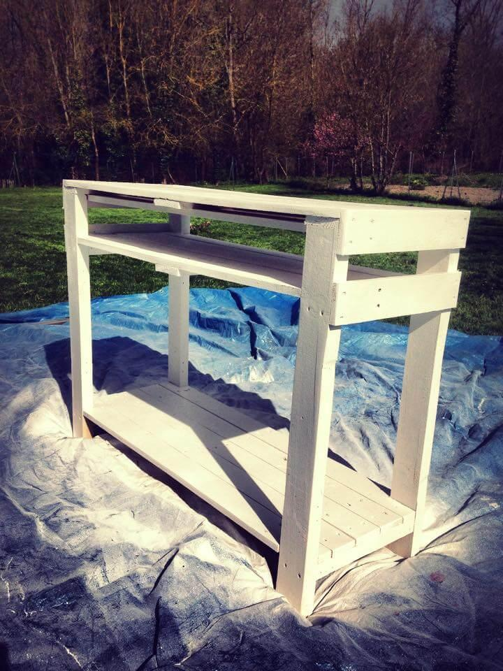 chic white pallet console