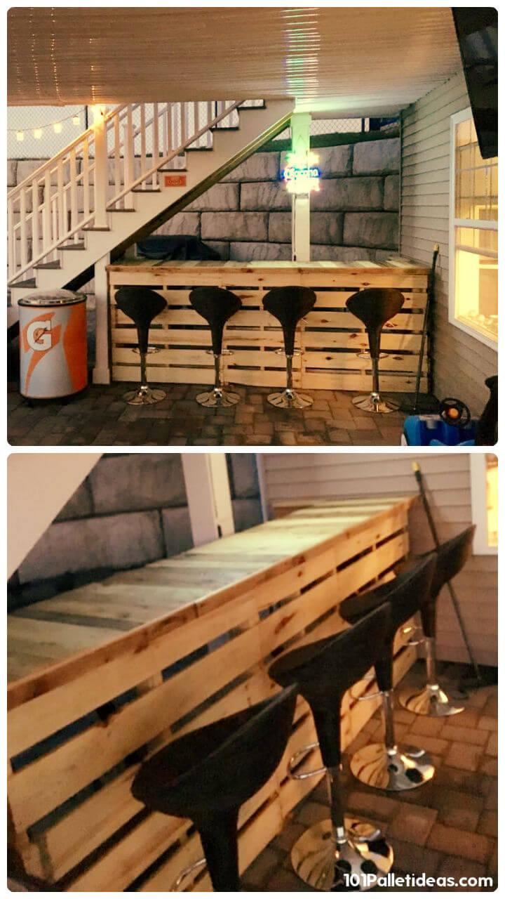 Pallet under stair bar