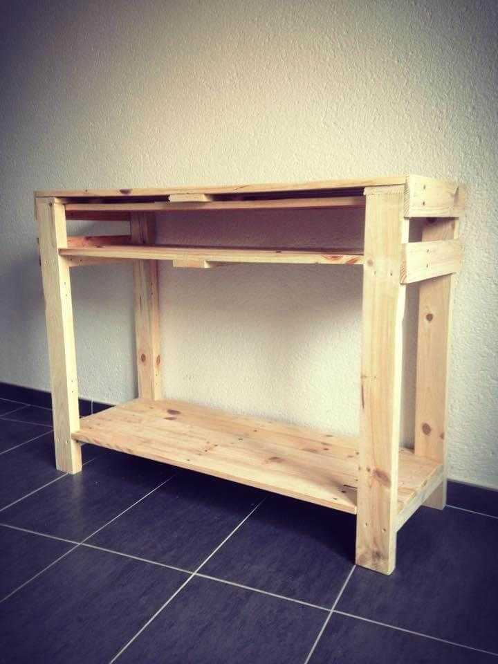 rustic pallet wood console