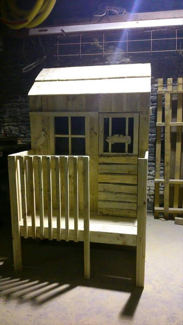 upcycled wooden pallet mini pallet playhouse