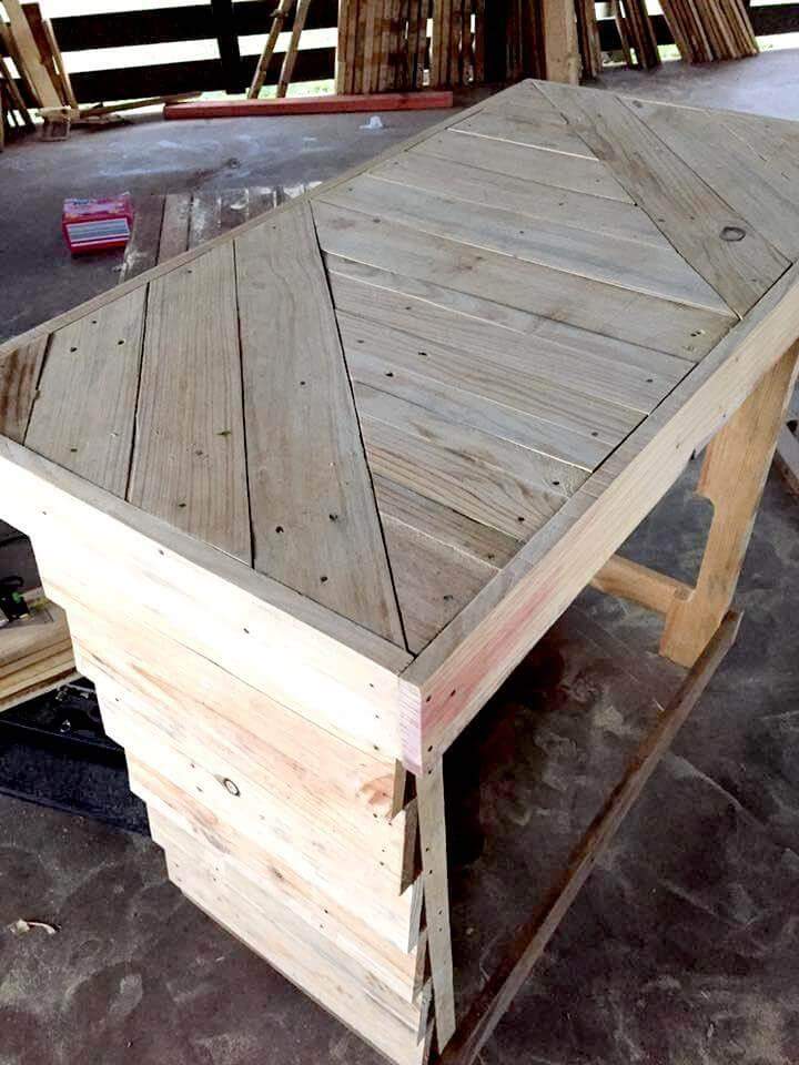 handmade pallet table or bar