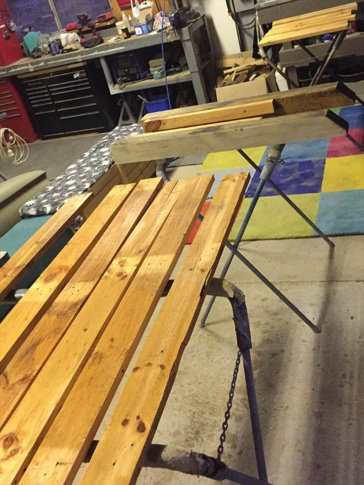 how to install a better headboard with pallets