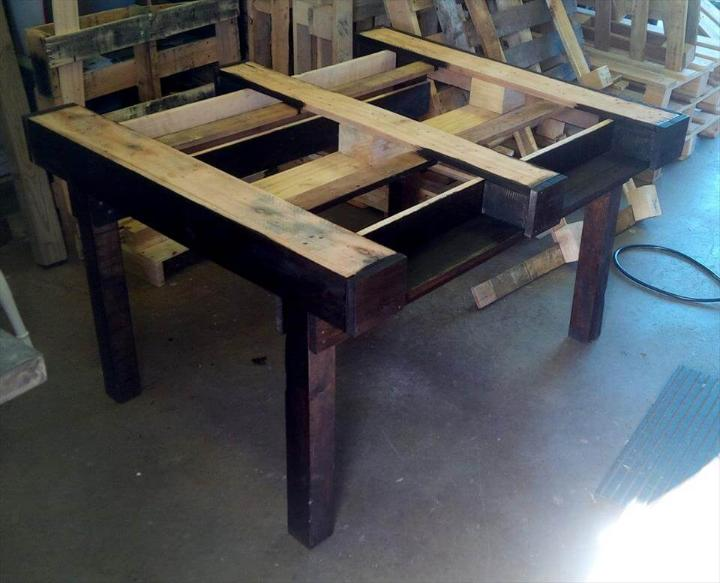 how to build a dining table with pallets