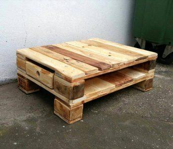 handmade low pallet coffee table