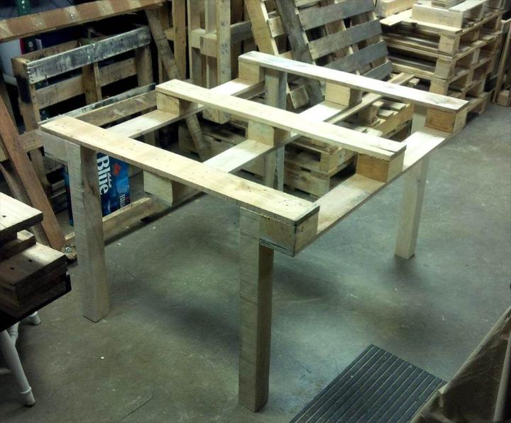 installing the primary dining table frame