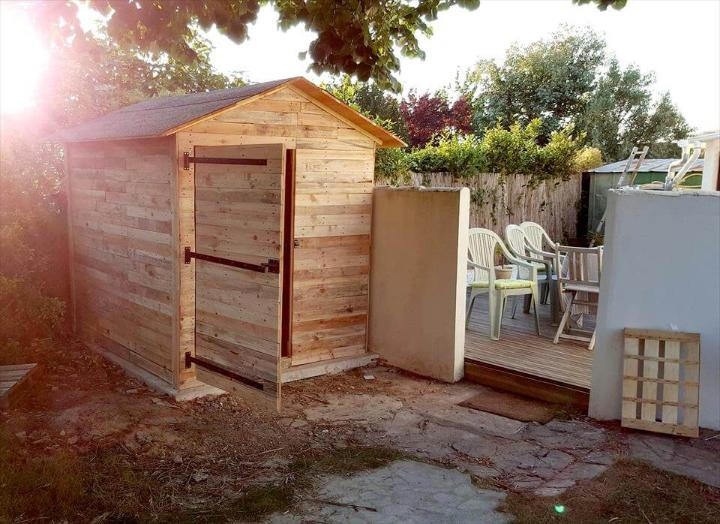 no-cost pallet outdoor cabin or shed