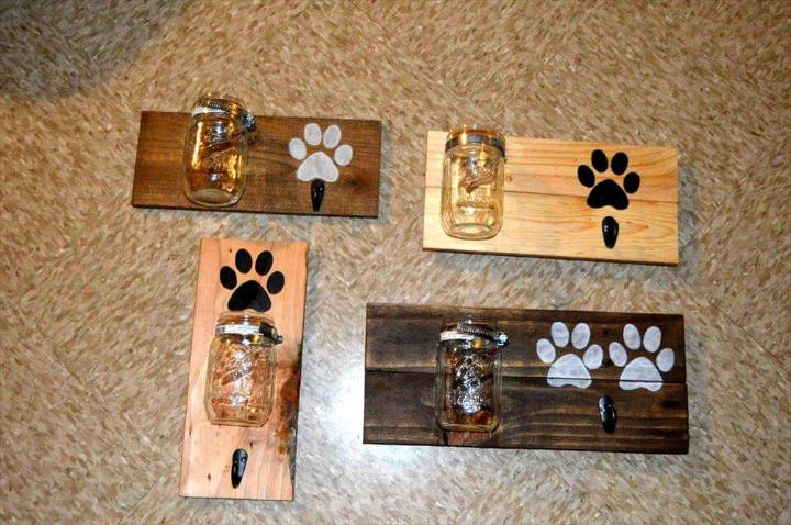 cute and fun pallet Dog Leash or Treat Holder!