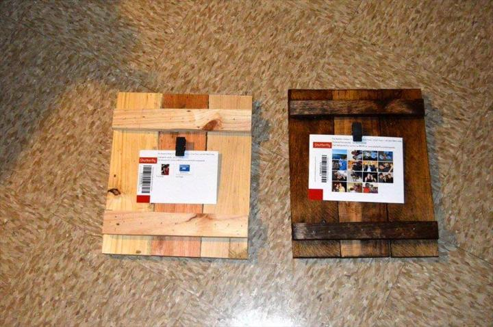 cute pallet picture frames