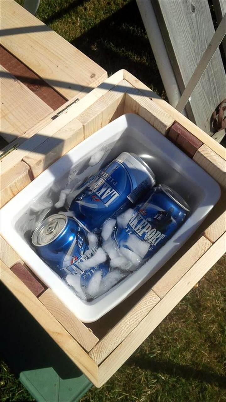 mini pallet bon-fire party night cooler