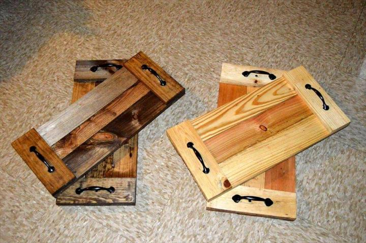 Diy pallet trays