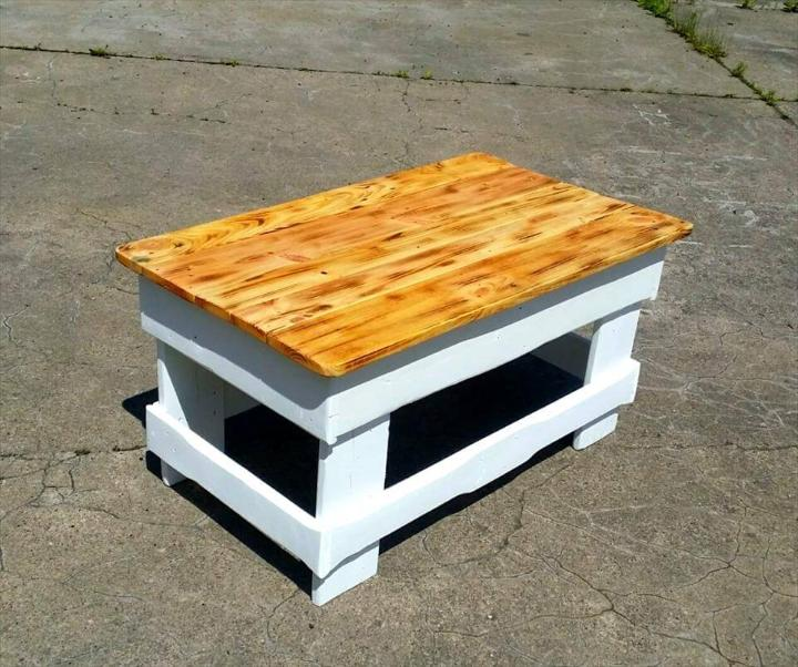 wooden pallet milk and honey coffee table
