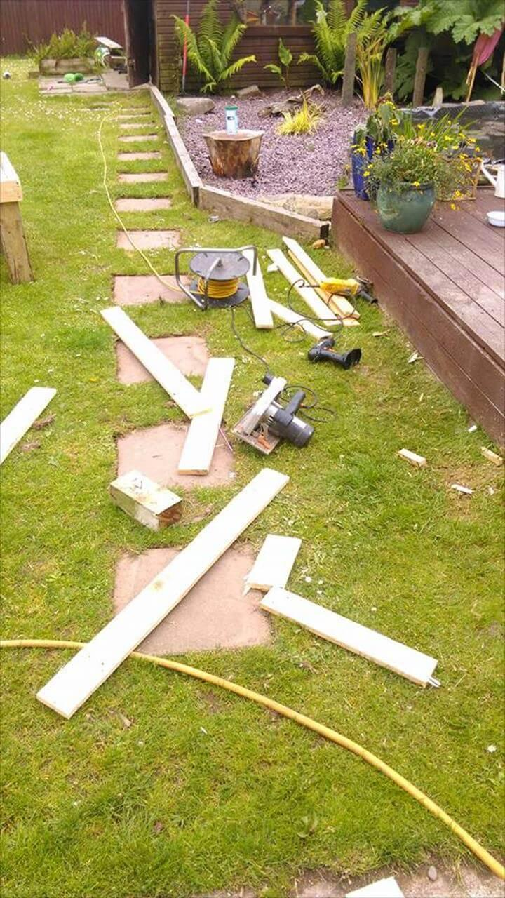 wooden pallet remains or scrap