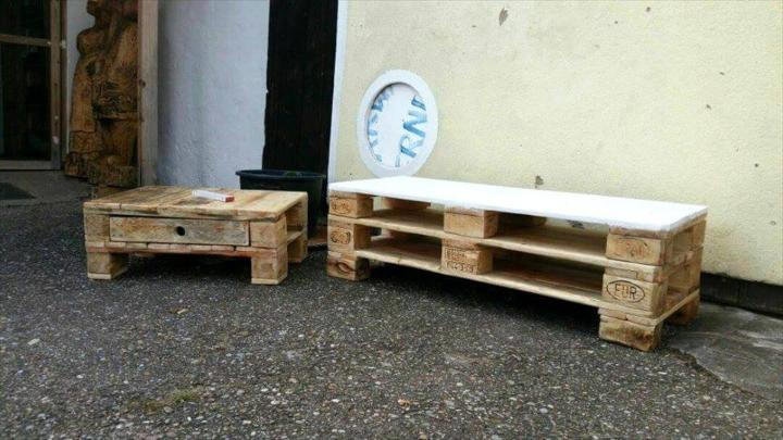 handcrafted wooden pallet low coffee tables