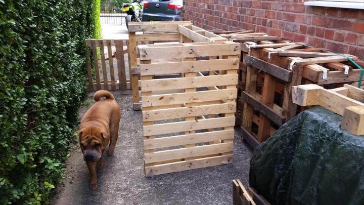 making of pallet outdoor bar