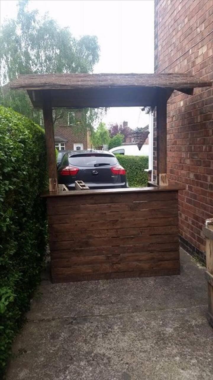 diy wooden pallet outdoor bar