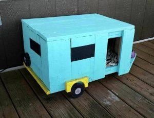 diy cute pallet pet camper