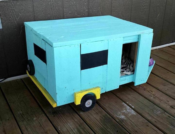 Wood Pallet Camper Pet House Easy Pallet Ideas