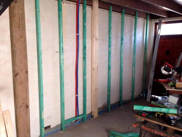 preparing the wall for wood paneling