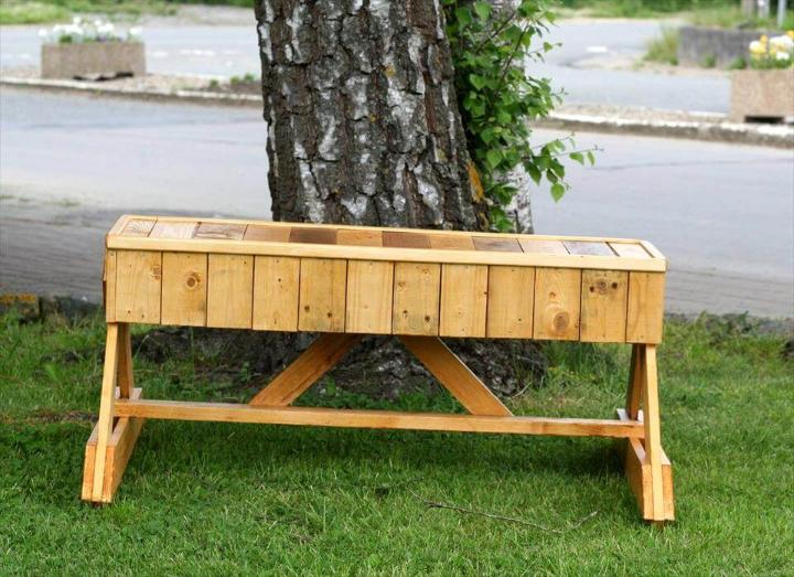 upcycled pallet unique garden bench