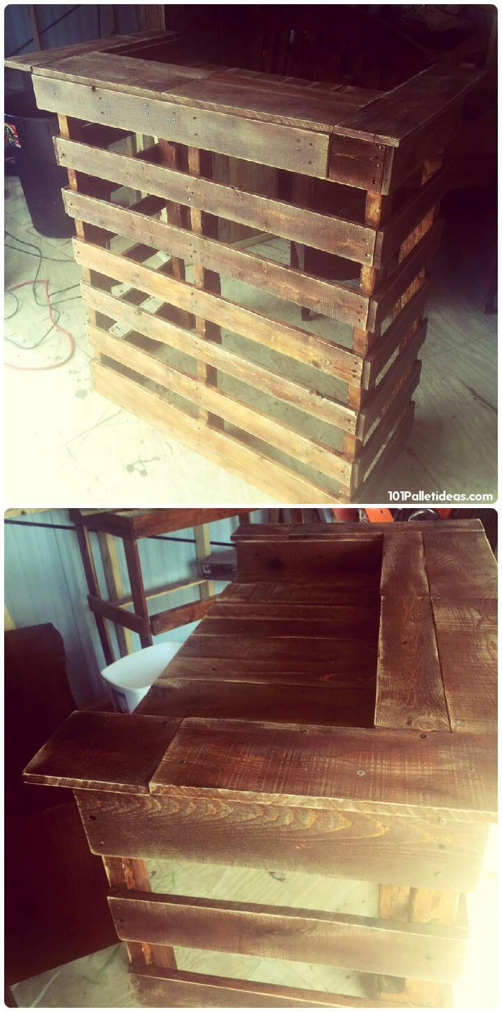 rustic pallet mini bar
