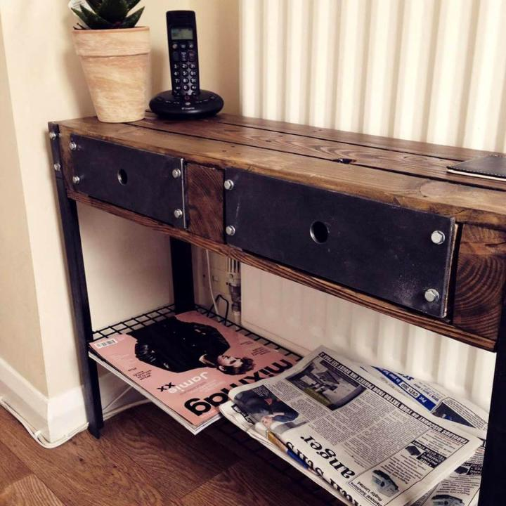 pallet and metal console
