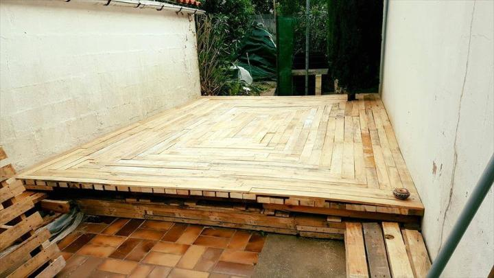 custom pallet deck installation
