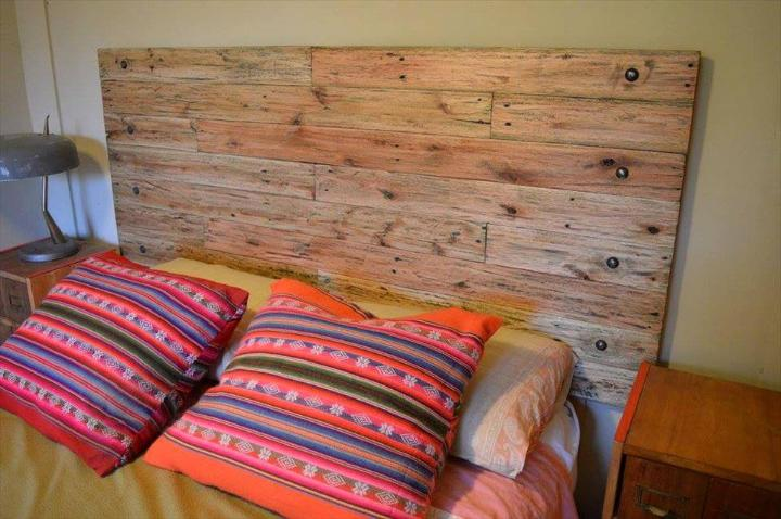 custom wooden pallet headboard