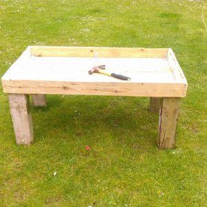 reclaimed wooden pallet sandbox