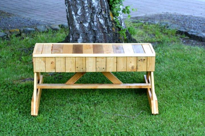 recycled pallet unique bench