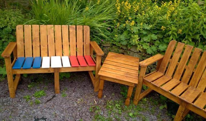 pallet garden sitting set