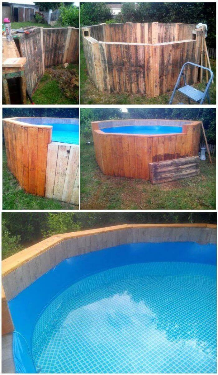 Free of Cost Pallet Swimming Pool - PALLET Furniture - easy pallet projects