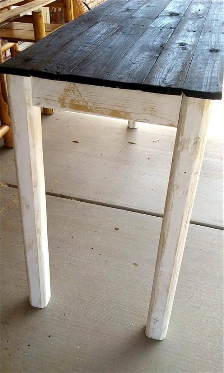 diy pallet country style entryway table