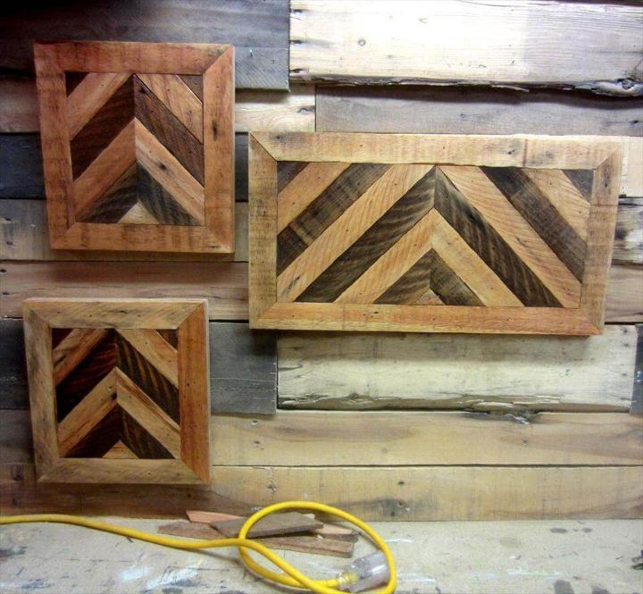 handmade pallet chevron wall signs