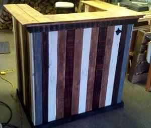 stylish multicolor wooden pallet bar